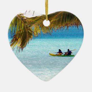 Crossing paradise christmas ornament