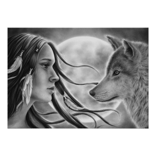 Crossing Spirits Wolf Poster