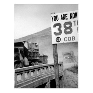 Crossing the 38th parallel. United _War Image Postcard