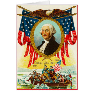 Crossing the Delaware Greeting Card