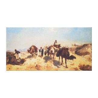 Crossing the Desert Canvas Print