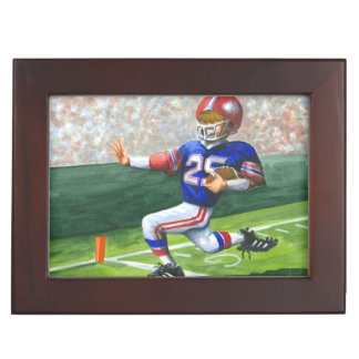 Crossing the Goal Line for a Touchdown Keepsake Box