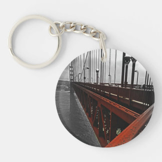 Crossing the Golden Gate Double-Sided Round Acrylic Key Ring