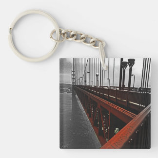 Crossing the Golden Gate Double-Sided Square Acrylic Key Ring