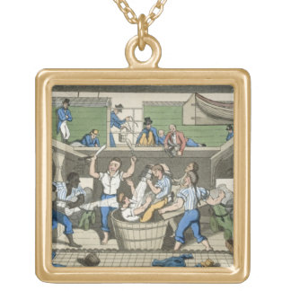 Crossing the Line, plate from 'The Adventures of J Gold Plated Necklace