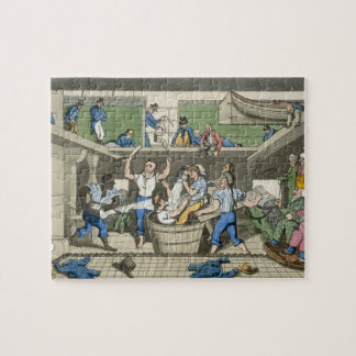 Crossing the Line, plate from 'The Adventures of J Jigsaw Puzzle