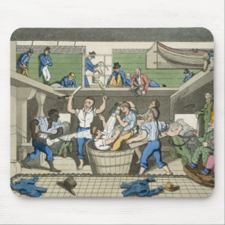 Crossing the Line, plate from 'The Adventures of J Mouse Mat