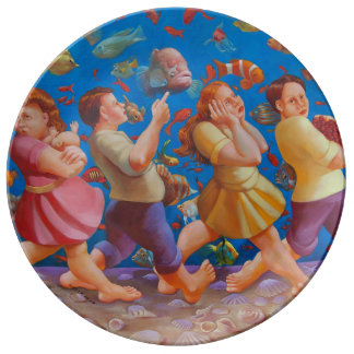 Crossing the Red Sea Porcelain Plate
