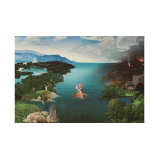 Crossing the River Styx Oil-Painting on-Canvas Gallery Wrap Canvas