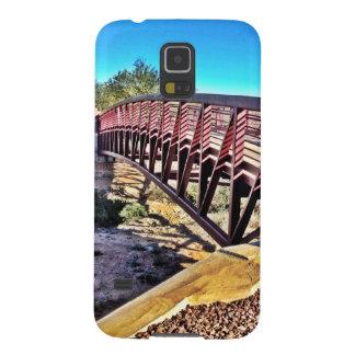 Crossing Urban Bridge Under Vibrant Blue Sky Galaxy S5 Cover