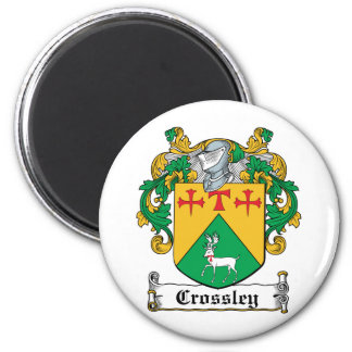 Crossley Family Crest 6 Cm Round Magnet
