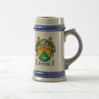 Crossley Family Crest Beer Stein