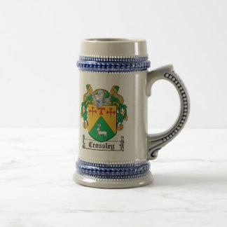 Crossley Family Crest Beer Steins