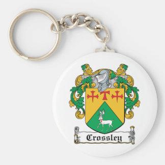 Crossley Family Crest Key Ring