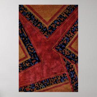 """""""Crossroads"""" original art  poster"""