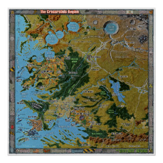 Crossroads Region Gazetteer Map Poster