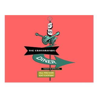 Crossroads Vintage Diner Sign Post Cards