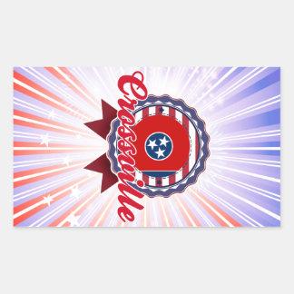 Crossville, TN Rectangular Stickers