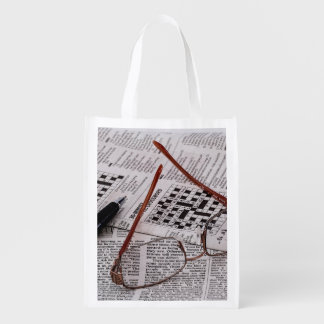 Crossword Genius Reusable Grocery Bag