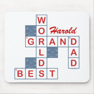 Crossword Grandpa Mousepad