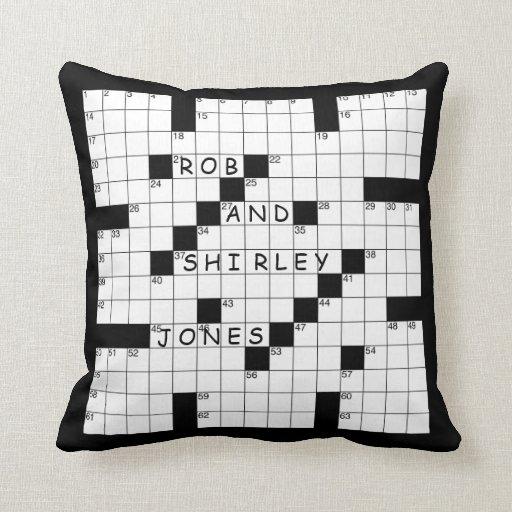 Crossword Puzzle Pillow