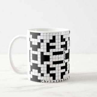 Crossword Puzzle Custom Mug