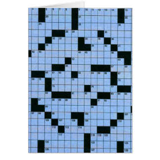 Crossword Puzzle Greeting Card