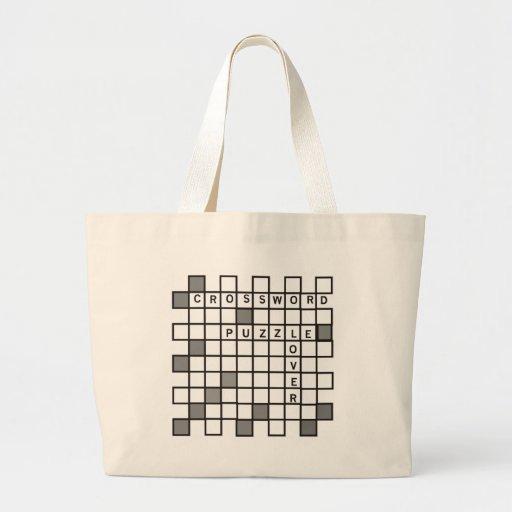 Crossword Puzzle Lover Canvas Bag