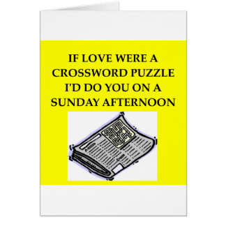 CROSSWORD puzzle lover Greeting Card