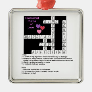 Crossword Puzzle of Love Ornament