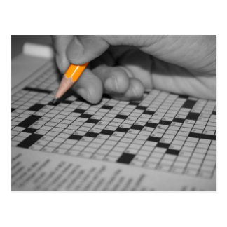 Crossword Puzzle Postcard