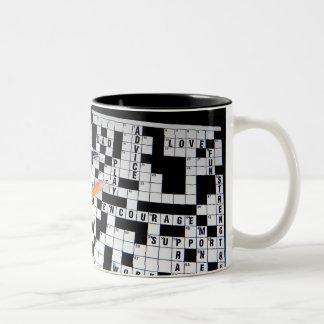 Crossword Puzzle Two-Tone Mug