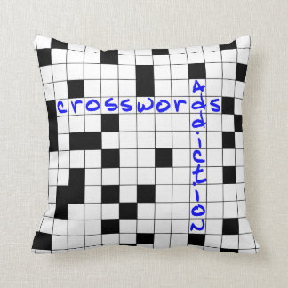 Crosswords addiction cushion