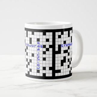 Crosswords addiction large coffee mug