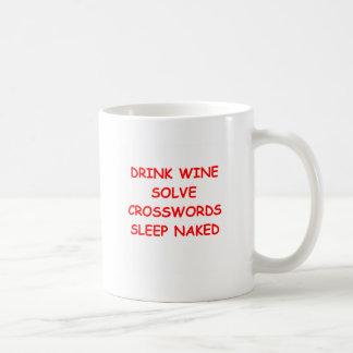 crosswords basic white mug