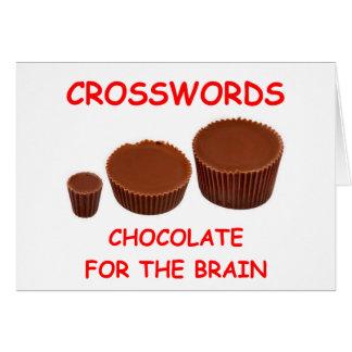 crosswords greeting card