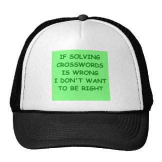 crosswords mesh hat