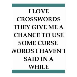 crosswords postcard