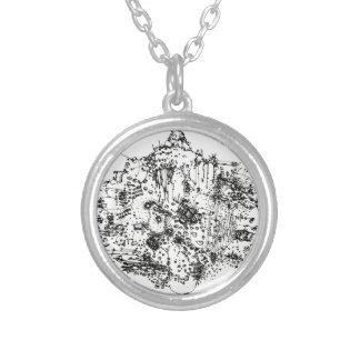 crossworld round pendant necklace