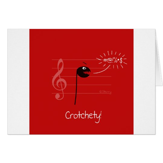 Crotchety - Music Joke Cartoon Card