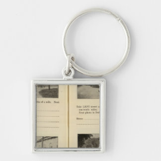 Croton Ossining Dobbs Ferry Silver-Colored Square Key Ring
