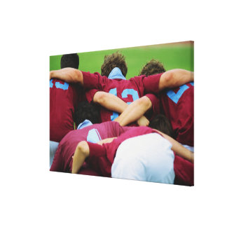 Crouch, Touch, Engage Stretched Canvas Print