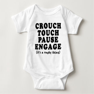 Crouch Touch Pause Engage Baby Bodysuit