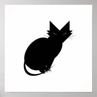 Crouching Cat Hidden Cat Treat Poster