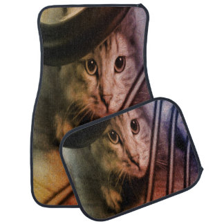 Crouching Kitty Car Mat