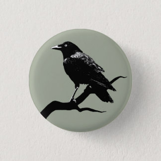 Crow 3 Cm Round Badge