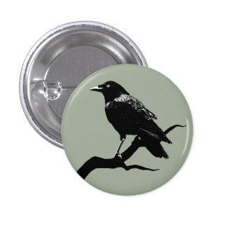 Crow 3 Cm Round Badge