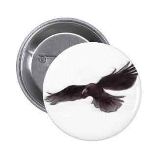 Crow 6 Cm Round Badge
