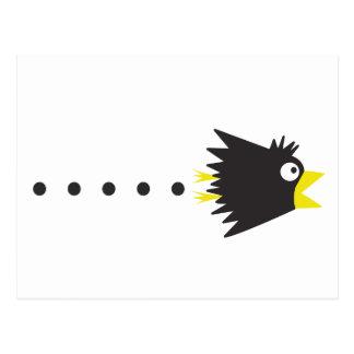 Crow alone postcard