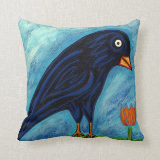 Crow and Chicken Pillow